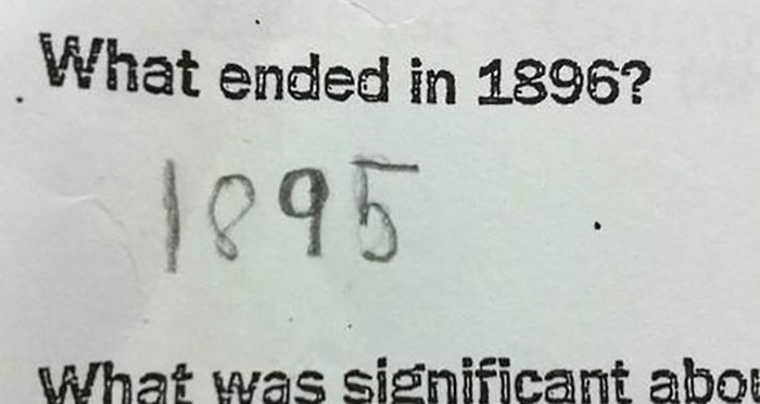 30 Brilliant Test Answers From Smartass Kids